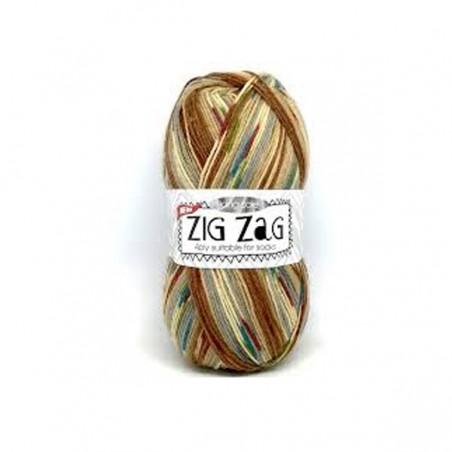 King Cole Zig Zag Sock 3230 Beige