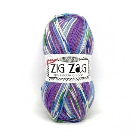 King Cole Zig Zag Sock 3231 Lilac