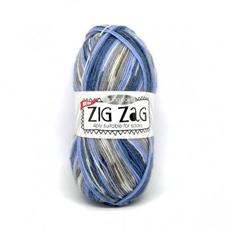 King Cole Zig Zag Sock 3232 Andriatic