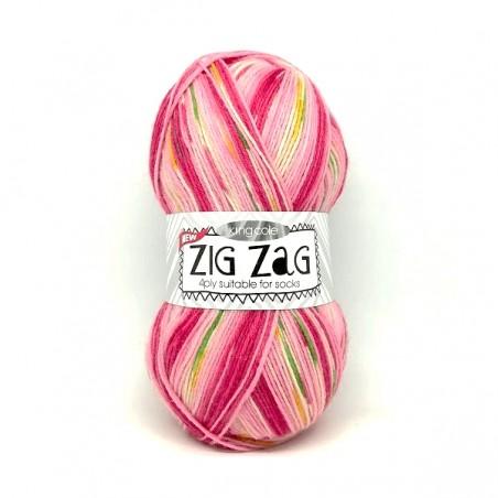 King Cole Zig Zag Sock 3233 Pink
