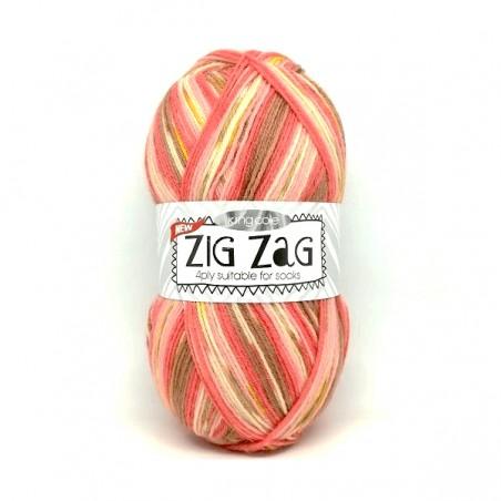 King Cole Zig Zag Sock 3234 Coral