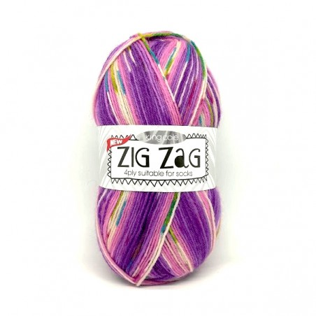 King Cole Zig Zag Sock 3235 Purple