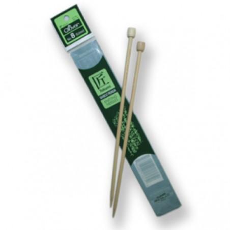Clover Bamboo Needles 33cm Various Sizes