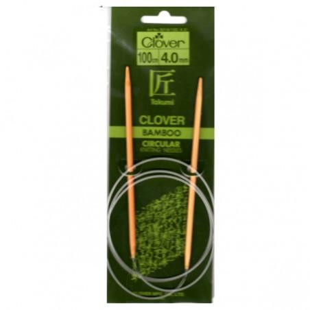 Clover Bamboo Circular Needle - 4mm x 100cm