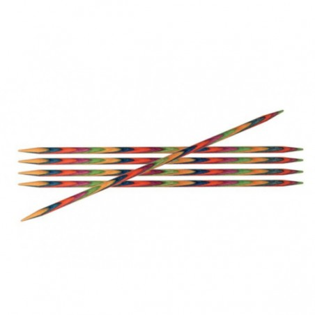 Knitpro Symfonie Wood DPNs (Qty 6) 4mm (15cm)