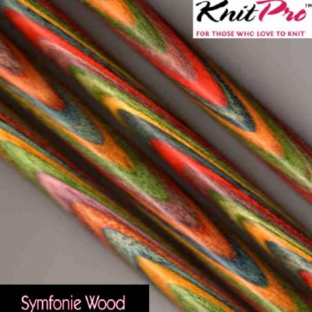 KnitPro Symfonie Wood Straight Needles 10mm (35cm)