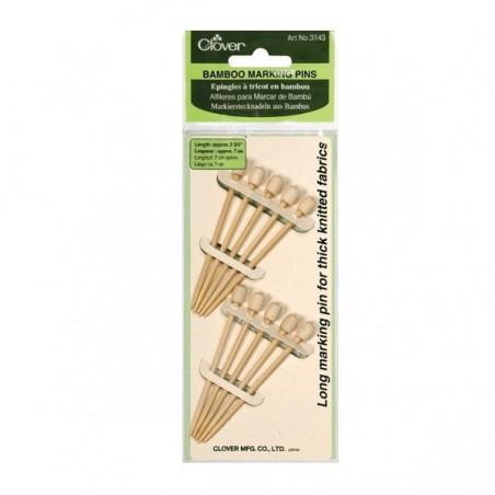 Clover Bamboo Marker Pins