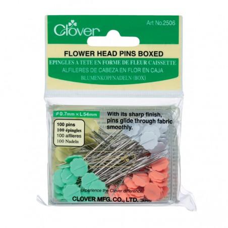 Clover Flower Head Pins X 100 (Boxed)