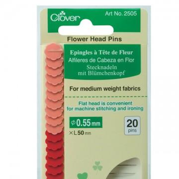 Clover Flower Head Pins X 20