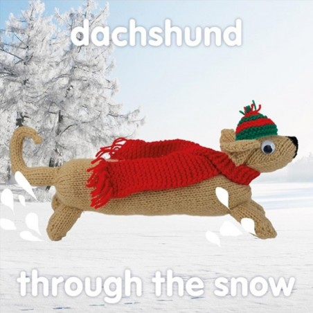 Knit & Purl Dachsund Through The Snow