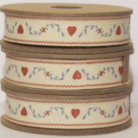 East of India Ribbon Small Hearts & Leaves