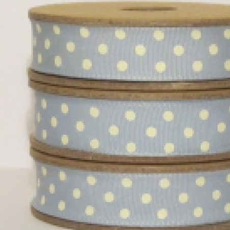 East of India Ribbon White Dots On Pale Blue