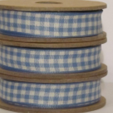 East of India Ribbon Blue Gingham