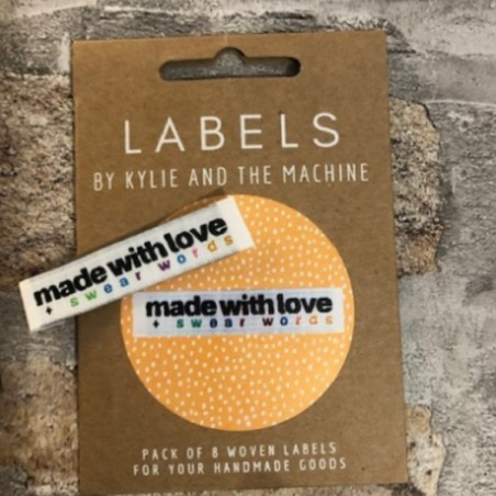 Kylie and the Machine Labels Made with Love and Swear Words