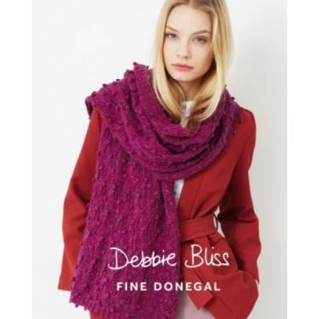 Debbie Bliss Fine Donegal Bobble And Lace Scarf Pattern - DB025