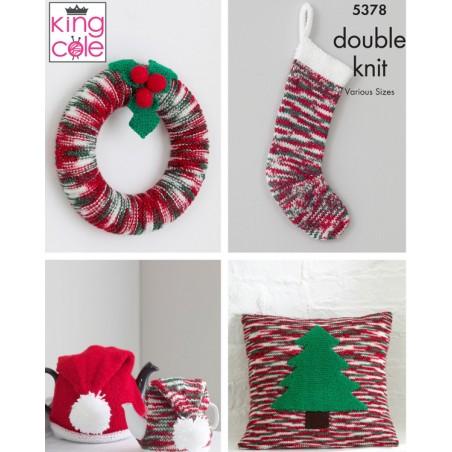 King Cole Glitz DK Christmas Pattern 5378