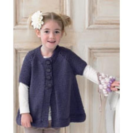 JB151 - Chunky With Merino Girl's Waistcoat