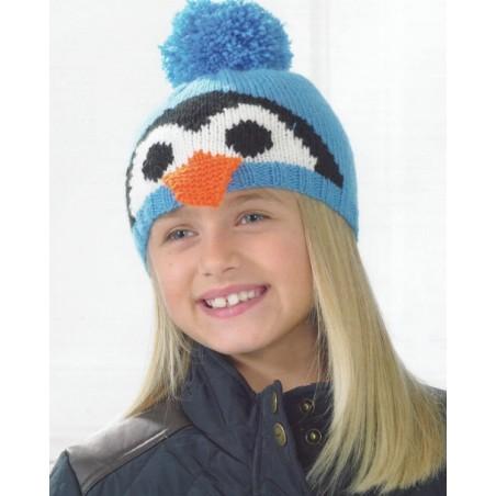 JB238 - DK Penguin Or Teddy Hat Pattern By James C Brett