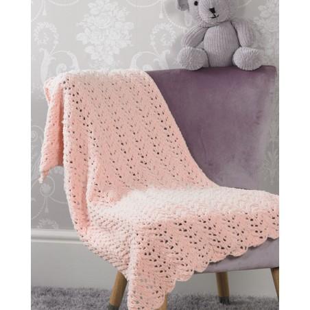 JB526 - Flutterby Lace Blanket & Teddy