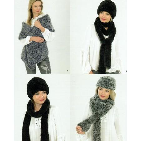 JB540 - Chinchilla Hats, Scarves & Wraps
