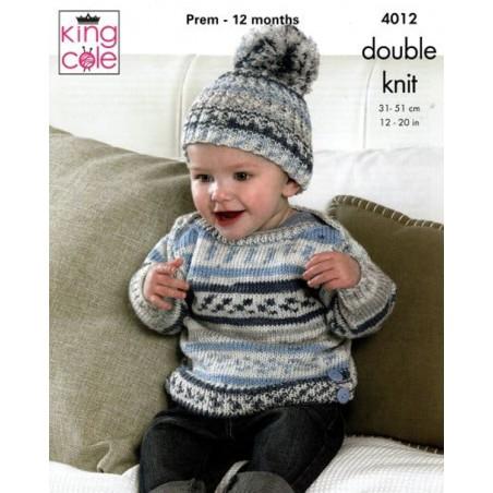 King Cole DK Single Pattern 4012