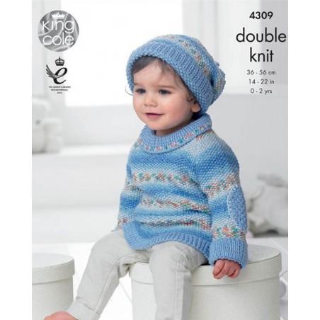 King Cole DK Single Pattern 4309