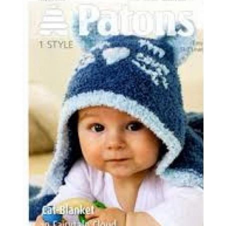 Patons Cat Blanket In Fairytale Cloud 3959