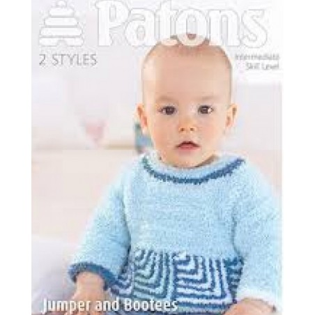 Patons Jumper And Bootees In Fairytale Cloud 3963