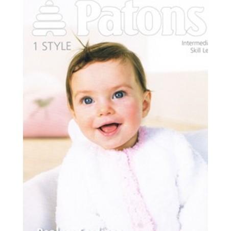Patons Peplum Cardigan In Fairytale Cloud 3957