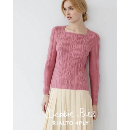 Rialto 4 Ply Leaf Stitch Sweater DB077
