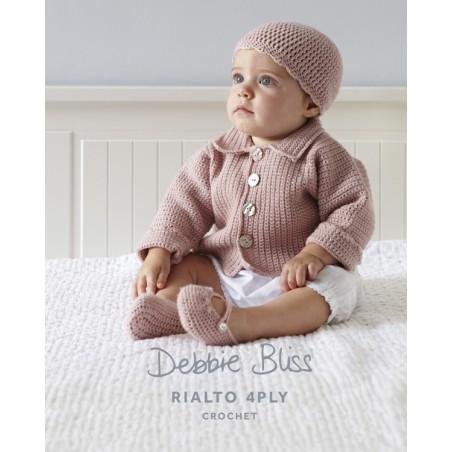 Rialto 4ply Crochet Jacket, Beanie & Shoes DB011
