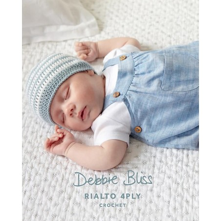 Rialto 4ply Crochet Striped Hat & Bootees DB012