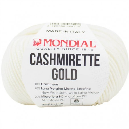 Lane Mondial Cashmirette Gold 100 White